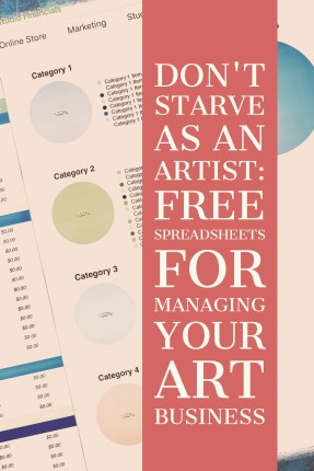 Don't starve as an artist: free spreadsheets for managing your art business