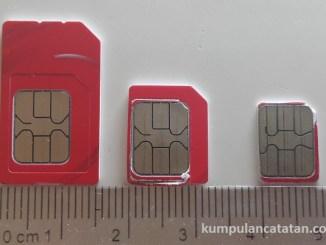 jenis dan ukuran sim card (mini SIM, micro SIM dan nano SIM)
