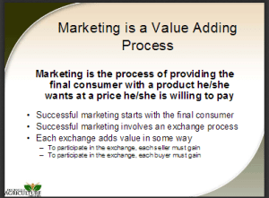 gambar marketing is a value adding