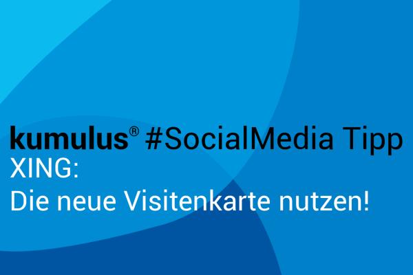 XING Visitenkarte - Social Media Tipp