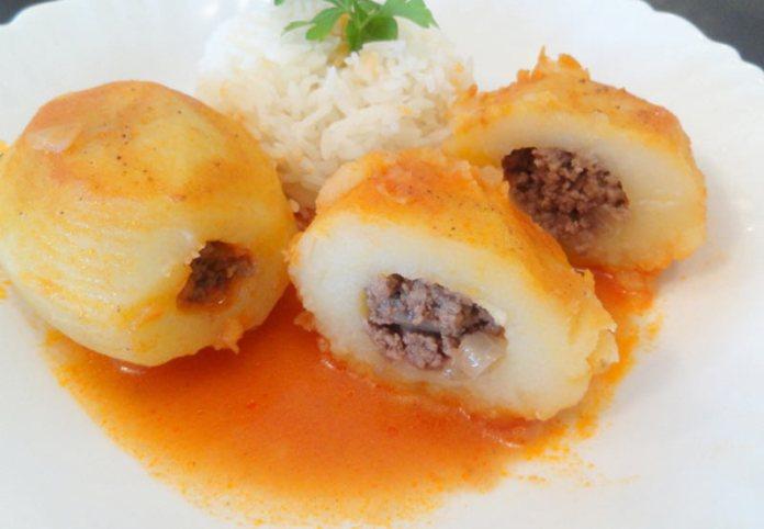 Картофель, фаршированный мясом