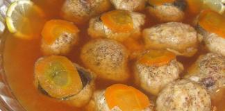 Рыба фаршированная по-еврейски в тефтельках