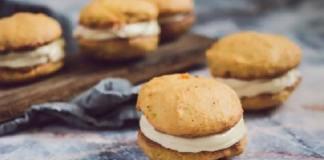 Тыквенное домашнее печенье с мягкой начинкой