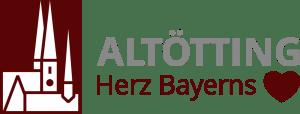 Tourismus Logo Altötting - Herz Bayerns - Kirchen-Piktogramm