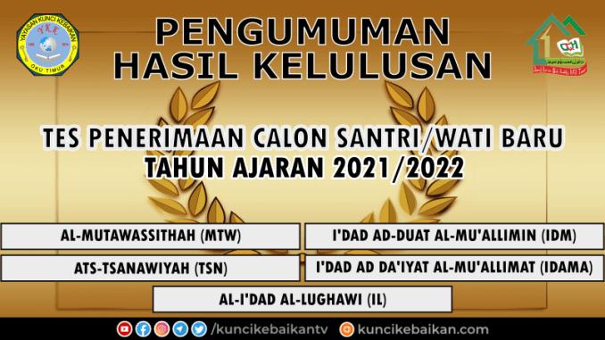 PENGUMUMAN PSB 2021