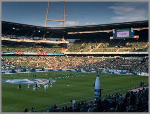 RAW Dateien mit dem iPhone 7+. Weserstadion bearbeitet
