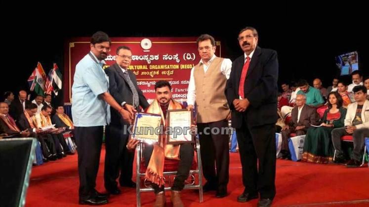 Aryabhata award Sathish poojary