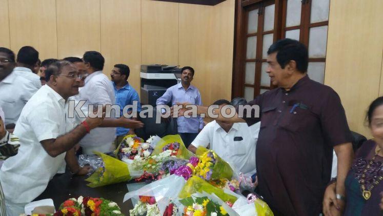 Oskar Fernandies 4th time elected to Rajyasabha. raju poojary wished (3)