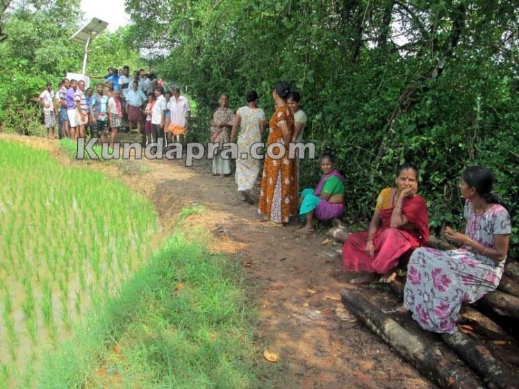 news Saligrama birdge protest3
