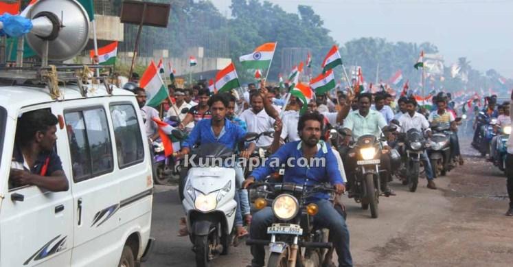 Tiranga Yatre - Bike Rally in Kundapura (3)