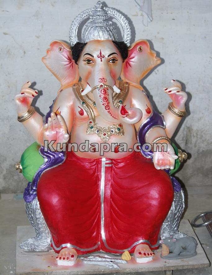 Kundapura ganesh idols makers Vasantha Gudigar made idols has demond in Hydarbad (10)