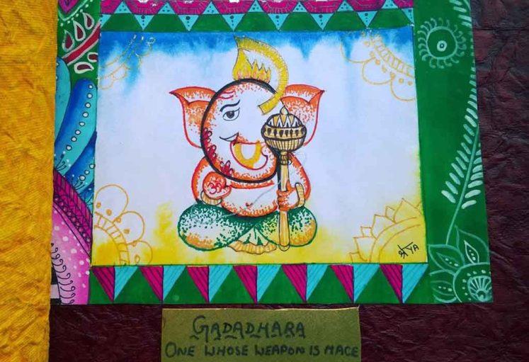 Shreyas Ganapathi Art - Gadadhara