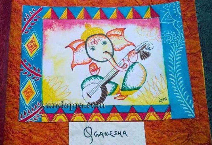 Shreyas Ganapathi Art - Q Ganesha