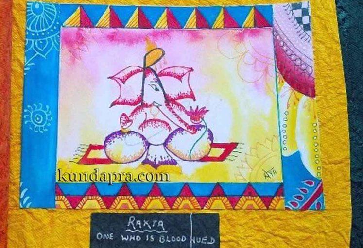 Shreyas Ganapathi Art - Rakta Ganesha