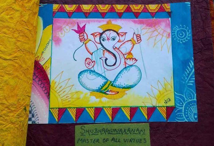 Shreyas Ganapathi Art - Shubha gunakanana