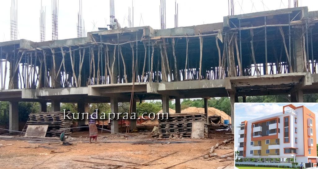 ಓಂ ಮಹಾವೀರ ಅಪಾರ್ಟ್ಮೆಂಟ್: ಭರದಿಂದ ಸಾಗುತ್ತಿದೆ ನಿರ್ಮಾಣ ಕಾಮಗಾರಿ