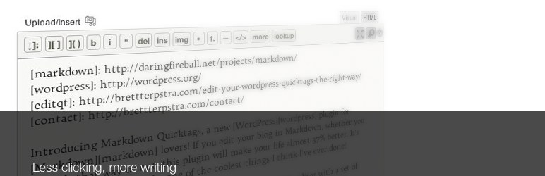 plugin wordpress markdown quicktags