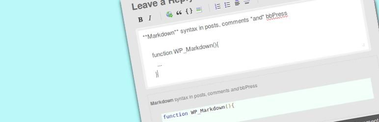 wordpress markdown plugin