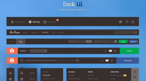 dark ui kit free