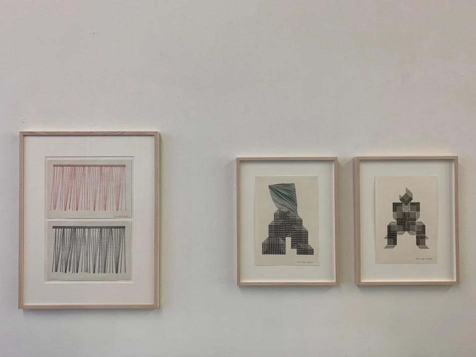 Ausstellungsansicht: Kunstverein Reutlingen. Arbeiten von Ruth Wolf-Rehfeldt. Foto: Elisabeth Weiß, © Ruth Wolf-Rehfeldt.