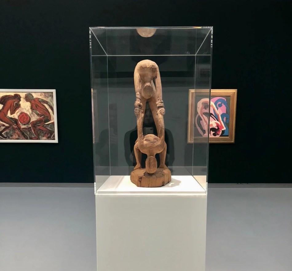 Ernst Ludwig Kirchner, Akrobatenpaar. Zwei Akrobatinnen, 1932-33 aus Arvenholz.