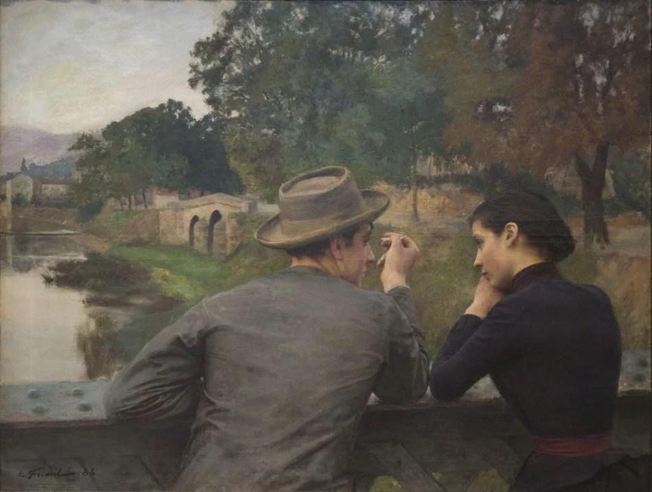 Émile Friant, Les Amoureux, 1888, Öl auf Leinwand, 111 x 145 cm, Foto: Michel Bourguet
