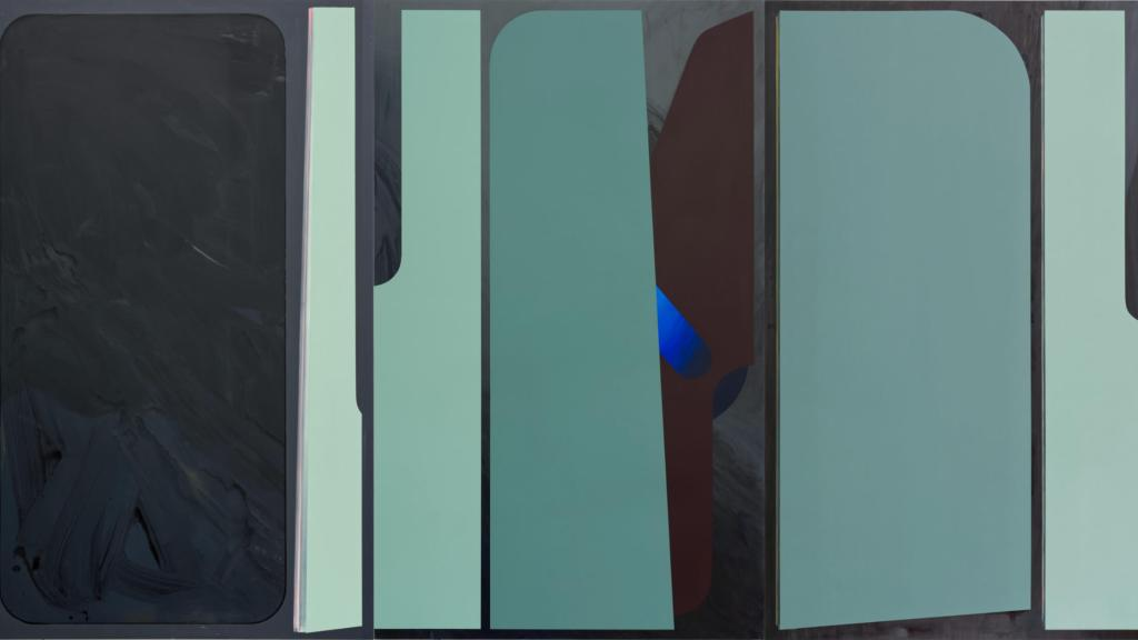 Coverbild Florina Leinß. pic151a-f.20pendent, 2020. Acryl/Dispersionsfarbe auf MDF, 180 x 660 cm. © Florina Leinß