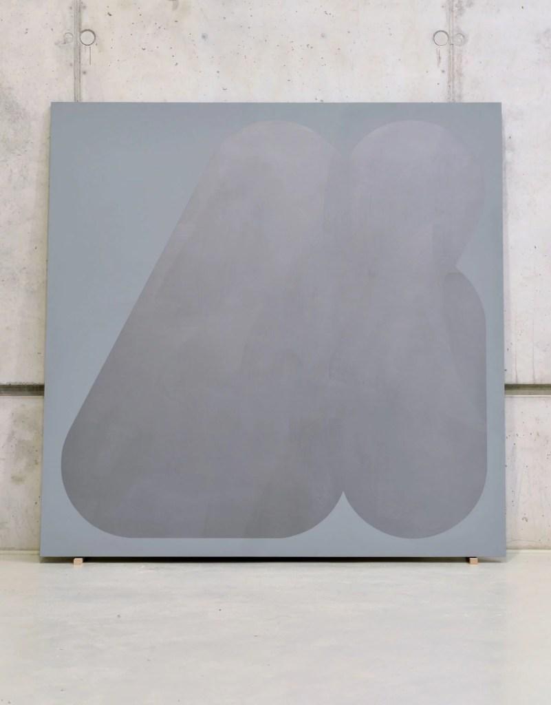 Florina Leinß. pic178.21unlocked. 2021. Graphit, Dispersionsfarbe auf HDF 150 x 150 cm. © Florina Leinß