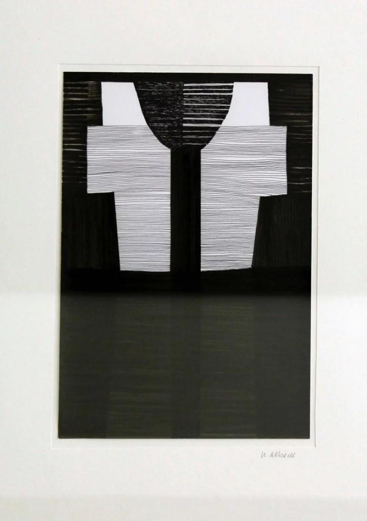 Uta Albeck. 2020:Kreuz 16, 2020, Filzstift-Fineliner auf Papier. Foto: Julia Berghoff.