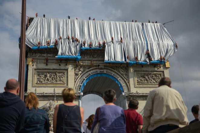 Die eigentliche Verhüllung dauert nur 14 Tage, die Vorbereitungen 60 Jahre. © Foto: Christo and Jeanne-Claude Foundation / Loyseau
