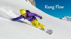 kung flow - descenso snowboard con mano al suelo