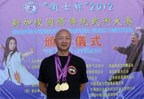 Master Wang won 3 gold medals
