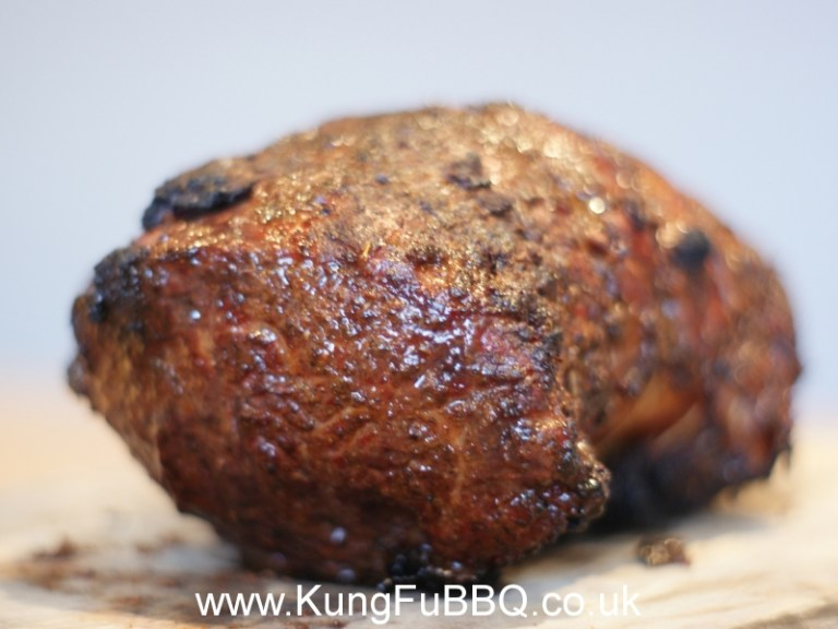 Dry rubbed sirloin of beef