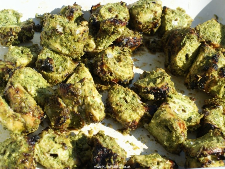 Green Chicken Kebabs