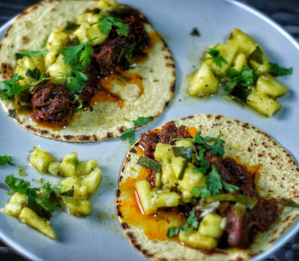 Red Curry Paste Braised Short-Rib Taco