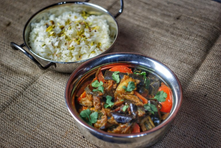 Coal Smoked Aubergine Curry