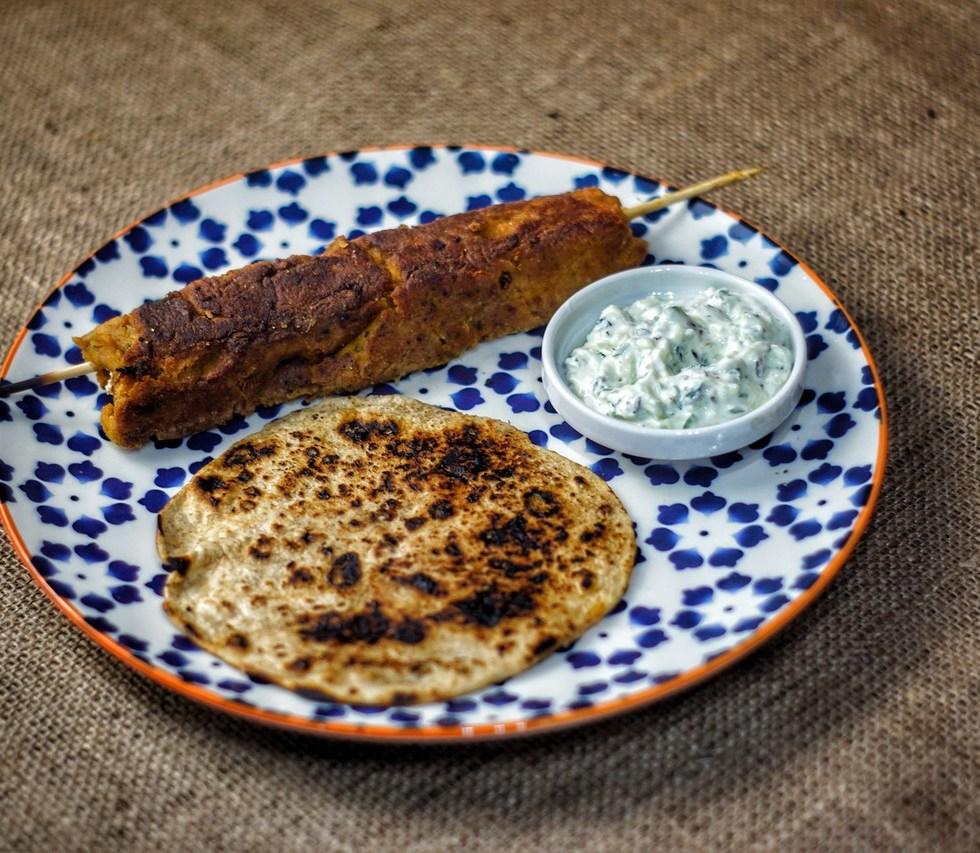 Butternut Squash Seekh Kebab