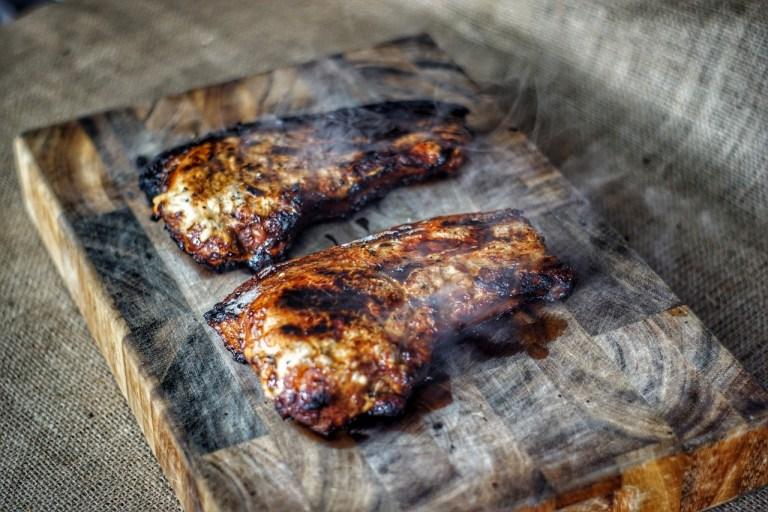 Charred Asian Pork Chops