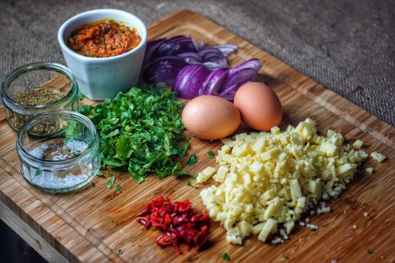 Masala Omelette Wrap