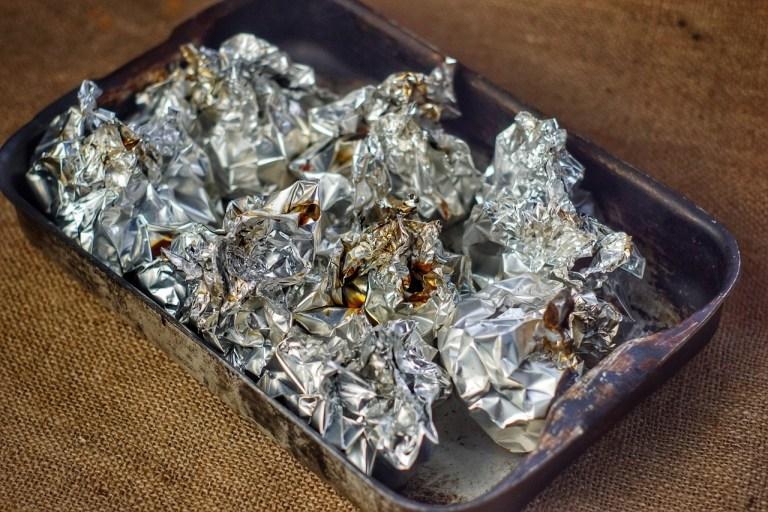 Silver paper chicken