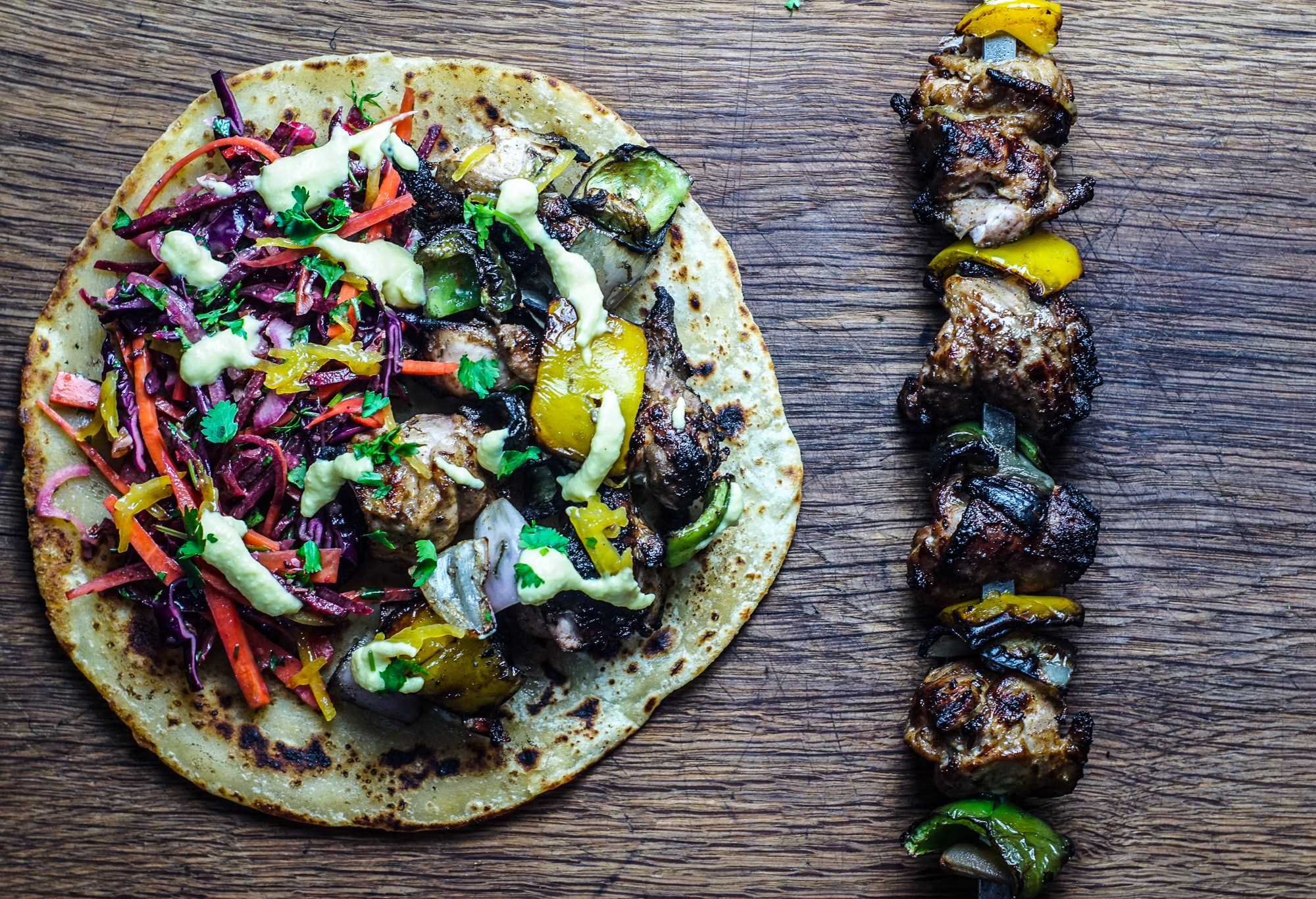 Buttermilk Chicken Shish Kebab