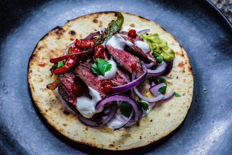Mocha Skirt Steak Fajitas