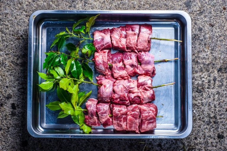 Bay Skewered Lamb