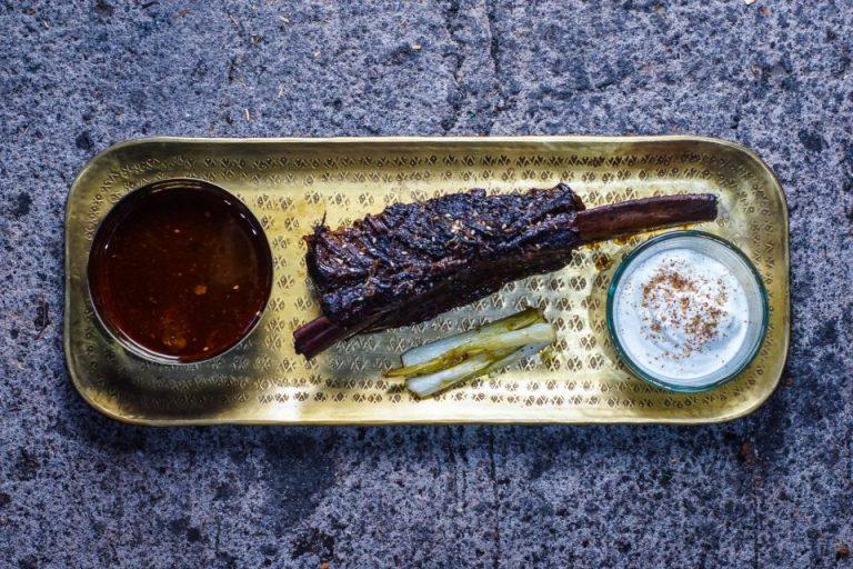 Sherry glazed overnight short rib of beef
