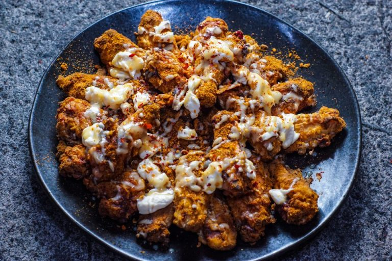 Buttermilk Fried Chicken Wings with Mission Chinese Chongqing spice