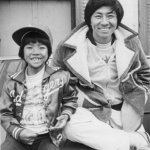 Like father, like son. Kane with renowned Ninja actor father Sho Kosugi