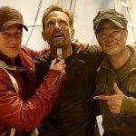With Michael Biehn and Simon Yam