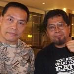 Carter with Tino Ceberano Grandmaster of Goju Ryu Karate