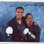 Flashing the smiles -Kash with boxing legend Sugar Ray Leonard