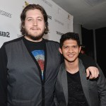 Gareth Evans and Iko Uwais at The Raid 2 Premiere in Los Angeles